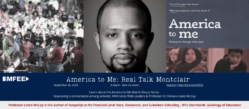 MFEE To Kick Off Second Round of 'America to Me: Real Talk Montclair' on Sept. 30