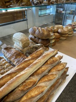 Bread and bakery items.