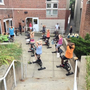Spin class outside