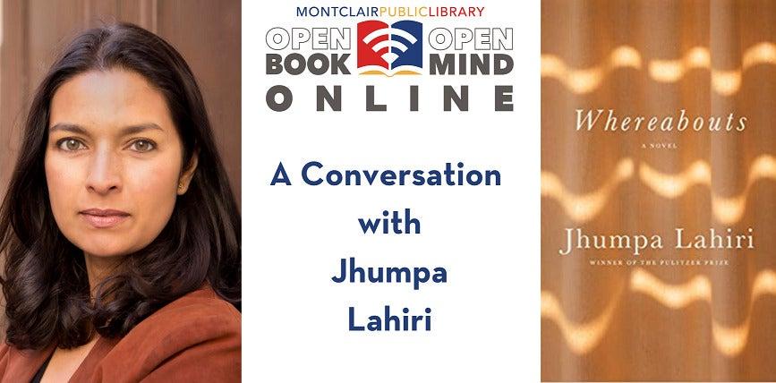 Montclair Public Library Jhumpa Lahiri